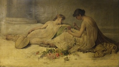 'Weaving the Garland' by Henry Thomas Schafer